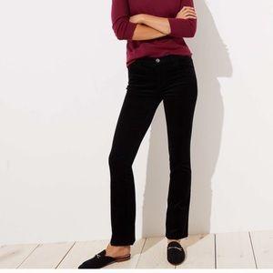 LOFT modern boot black corduroy women's 12 NWT